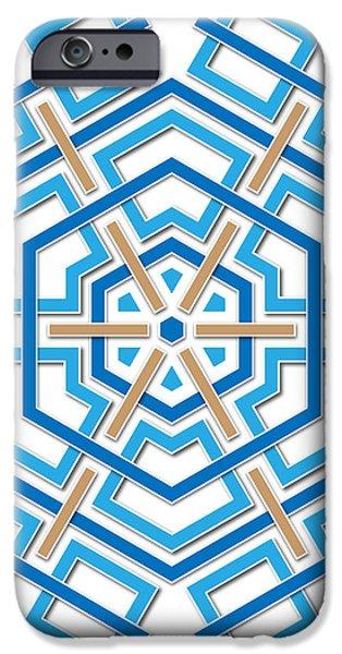 abstract hexagonal shape iPhone Case by Jozef Jankola