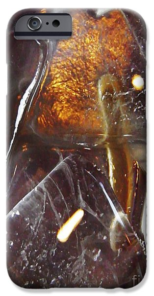 Business Digital Art iPhone Cases - Abstract Ice 4 iPhone Case by Sarah Loft