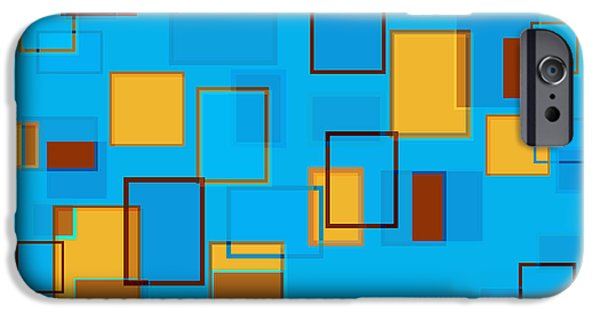 Blue Drawings iPhone Cases - Abstract In Beach Color Scheme iPhone Case by Frank Tschakert