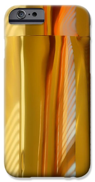 Nebraska iPhone Cases - Abstract In Brass #3 - Historic Library Building - Omaha Nebr iPhone Case by Nikolyn McDonald