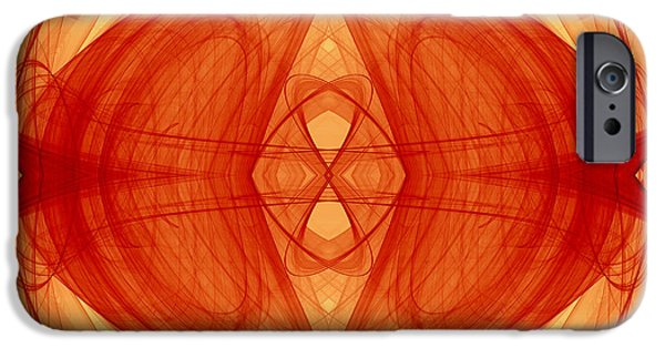 Concept Art iPhone Cases - Abstract in warm tone iPhone Case by Modern Art Prints