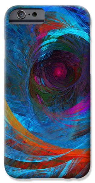 Abstract Jet Propeller iPhone Case by Andee Design
