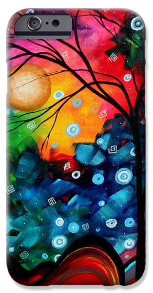 Abstract Landscape Colorful Contemporary Painting by Megan Duncanson Brilliance in the Sky iPhone Case by Megan Duncanson