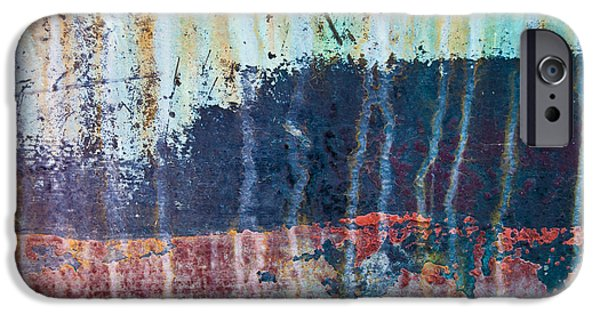 Freimann iPhone Cases - Abstract Landscape iPhone Case by Jani Freimann