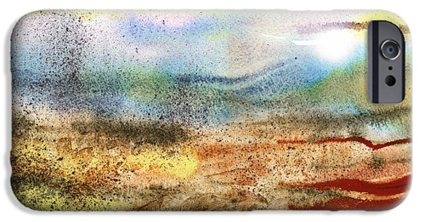 Abstractions iPhone Cases - Abstract Landscape Morning Mist iPhone Case by Irina Sztukowski