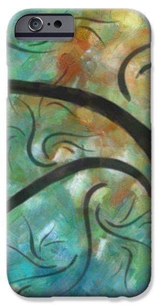 Abstract Landscape Painting Digital Texture Art by Megan Duncanson iPhone Case by Megan Duncanson
