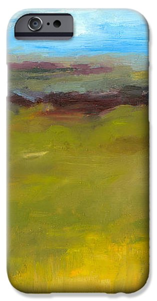 Abstract Landscape - The Highway Series iPhone Case by Michelle Calkins