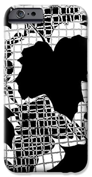 Abstract Leaf Pattern - Black White Grey iPhone Case by Natalie Kinnear