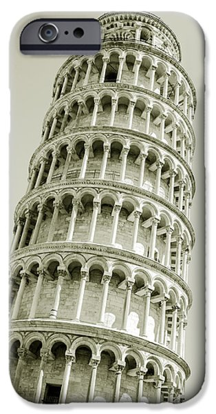 Facade iPhone Cases - Abstract leaning tower of Pisa iPhone Case by Gurgen Bakhshetsyan
