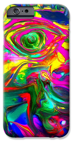 Statue Portrait Paintings iPhone Cases - Abstract Liberty iPhone Case by David Rogers