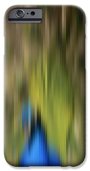 Abstract Moving Peacock  iPhone Case by Georgeta Blanaru