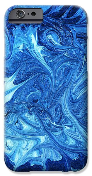 Abstract - Nail Polish - Ocean Deep iPhone Case by Mike Savad