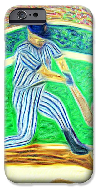Chicago Cubs Mixed Media iPhone Cases - Abstract of the hit iPhone Case by M and L Creations