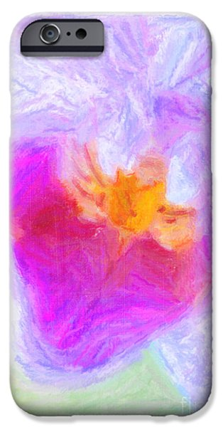 Abstract Orchid Pastel iPhone Case by Antony McAulay