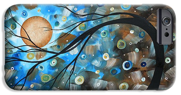 Online-art Paintings iPhone Cases - Abstract Original Landscape Art IN A TRANCE Art by MADART iPhone Case by Megan Duncanson