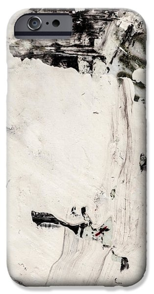Contemplative Paintings iPhone Cases - Abstract Original Painting Number Four iPhone Case by Maria  Lankina