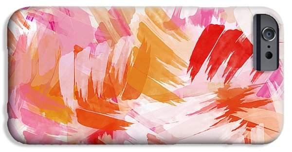 Abstract Digital Paintings iPhone Cases - Abstract Paint Pattern iPhone Case by Christina Rollo