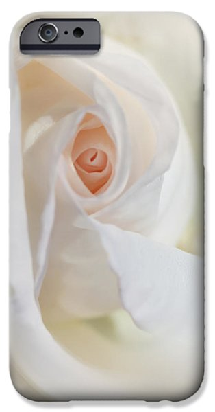 Abstract Pastel Rose Flower iPhone Case by Jennie Marie Schell