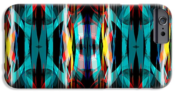 Stripes iPhone Cases - Abstract Pattern 3 iPhone Case by Steve Ball