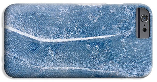 Nature Abstracts iPhone Cases - Abstract Patterns In The Ice During iPhone Case by Kevin Smith