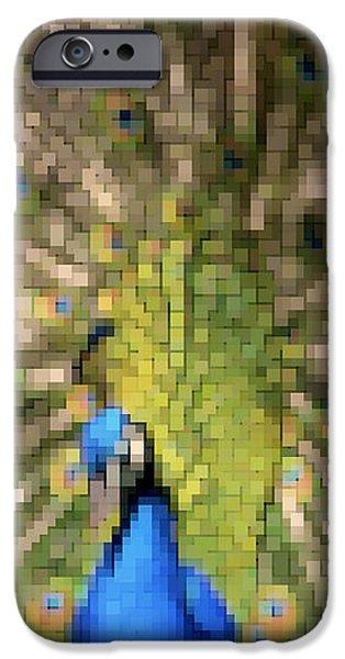 Abstract Peacock digital artwork iPhone Case by Georgeta Blanaru