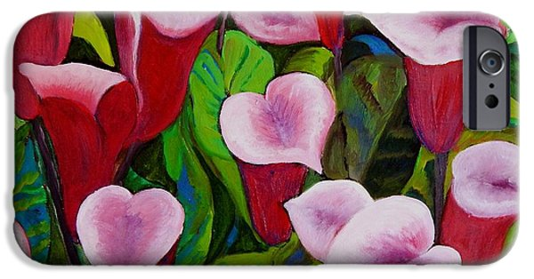 Carolinestreetart iPhone Cases - Abstract Pink Calla Lily iPhone Case by Caroline Street