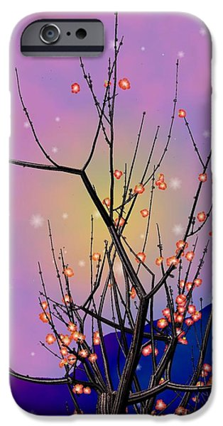Abstract plum iPhone Case by GuoJun Pan