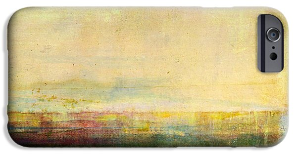 Abstract Seascape Mixed Media iPhone Cases - Abstract Print 5 iPhone Case by Filippo B