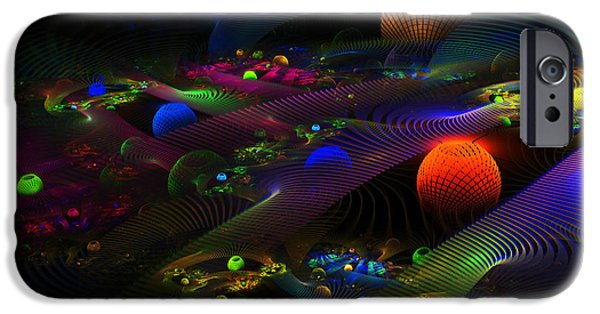 Abstract Energy Art iPhone Cases - Abstract Psychedelic Fractal Art iPhone Case by Keith Webber Jr