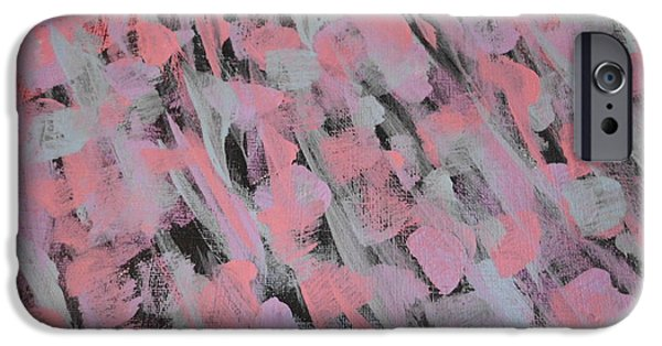 Rainy Day iPhone Cases - Abstract Rain 2 iPhone Case by Erica  Darknell