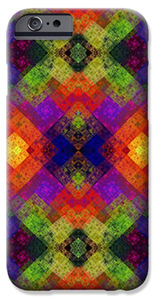 Concept Mixed Media iPhone Cases - Abstract - Rainbow Connection - Panel - Panorama - Horizontal iPhone Case by Andee Design