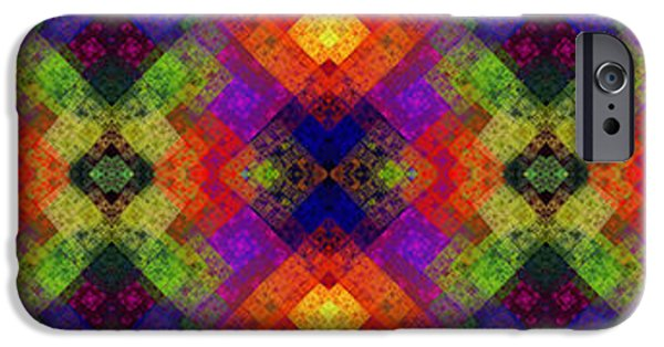 Concept Art iPhone Cases - Abstract - Rainbow Connection - Panel - Panorama - Vertical iPhone Case by Andee Design