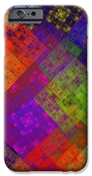 Abstract - Rainbow Infusion - Square iPhone Case by Andee Design
