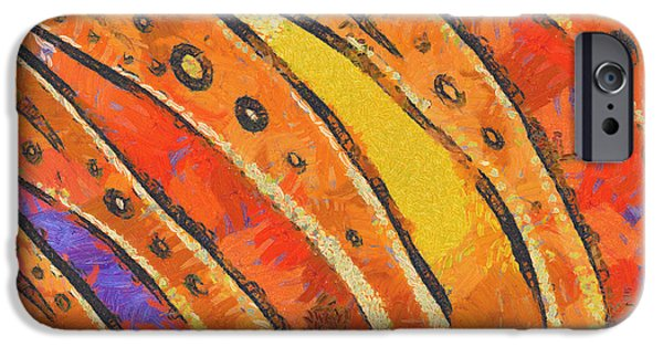 Business Digital iPhone Cases - Abstract rainbow tiger stripes iPhone Case by Pixel Chimp