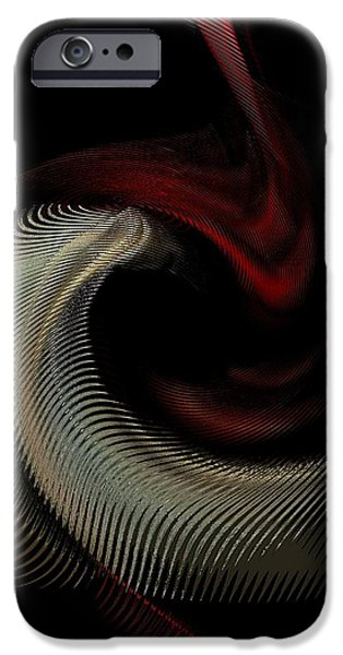 Abstract -Red-Gold-Black iPhone Case by Ines Garay-Colomba