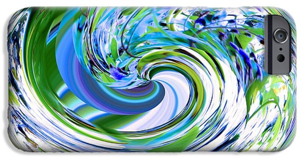 Recently Sold -  - Abstract Digital Art iPhone Cases - Abstract Reflections Digital Art #3 iPhone Case by Robyn King