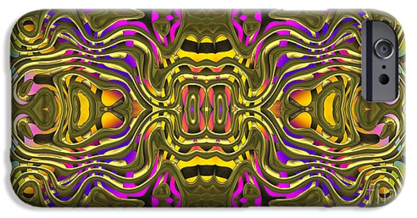 Digital Art Jewelry iPhone Cases - Abstract Rhythm - 12 iPhone Case by Hanza Turgul