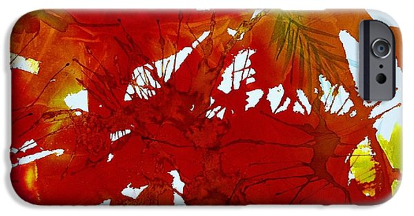 Splashy Paintings iPhone Cases - Abstract - Riot of Fall Color - Autumn iPhone Case by Ellen Levinson