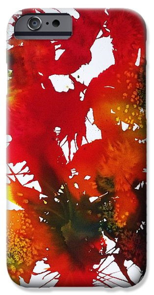 Splashy iPhone Cases - Abstract - Riot Of Fall Color II - Autumn iPhone Case by Ellen Levinson