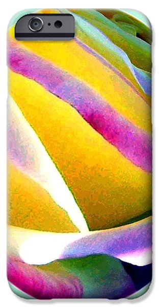 Abstract Digital iPhone Cases - Abstract Rose Oval iPhone Case by Will Borden