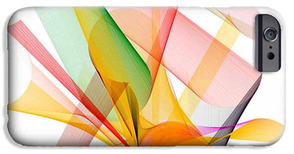 Shower Curtain iPhone Cases - Abstract Series 8 iPhone Case by Rafael Salazar