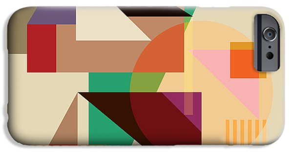 Modern Digital Art iPhone Cases - Abstract Shapes #4 iPhone Case by Gary Grayson