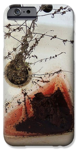 Todd Sherlock Photographs iPhone Cases - Abstract sink iPhone Case by Todd Sherlock