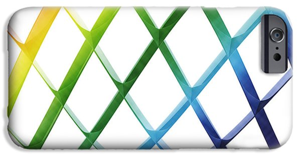 Digital iPhone Cases - Abstract Sinus Curve Colorful iPhone Case by Frank Ramspott