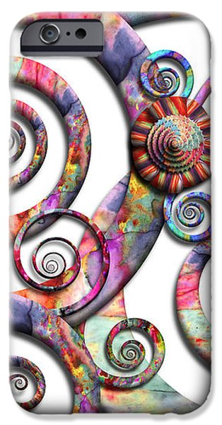 Abstract - Spirals - Wonderland iPhone Case by Mike Savad