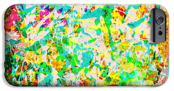 Decorative Digital Art iPhone Cases - Abstract Splatter iPhone Case by Gary Grayson