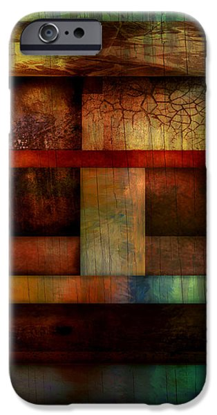 Ann Powell iPhone Cases - Abstract Study Five  iPhone Case by Ann Powell