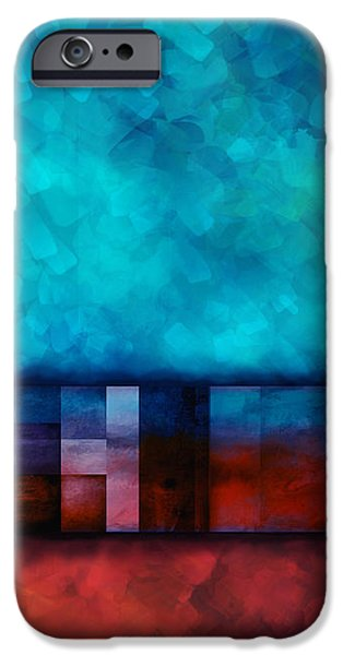 Abstract Study Seven iPhone Case by Ann Powell