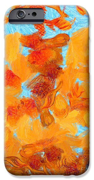 Van Gogh iPhone Cases - Abstract summer iPhone Case by Pixel Chimp