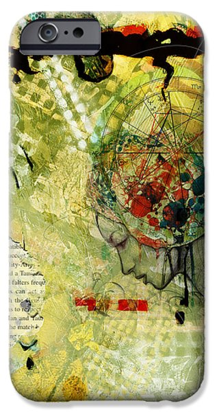 Virgo iPhone Cases - Abstract Tarot Art 009 iPhone Case by Corporate Art Task Force